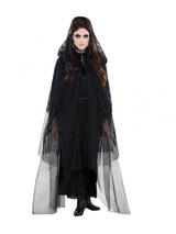 Adult Ladies Lace Hooded Cape