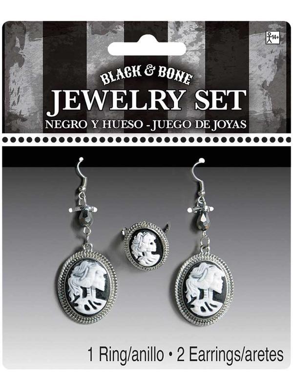 Ladies Black & Bone Jewellry Set
