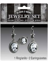 Ladies Black & Bone Jewellry Set