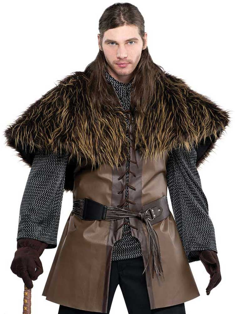 Adult Mens Furry Warrior Shoulder Cape