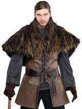 Adult Mens Furry Warrior Shoulder Cape