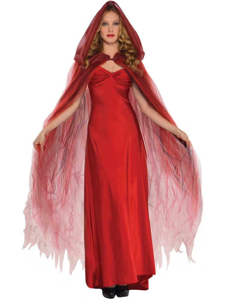 Adult Ladies Temptress Cape Scarlet