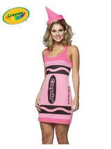Adult's Pink Crayola Dress (S/M)