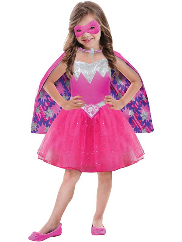 ed8b1855 Sentinel Child Barbie Power Princess Girls Kids Fancy Dress Pink Superhero  Costume