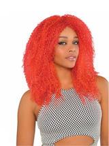 Adult Ladies Red Crimped Wig Harlequin Honey