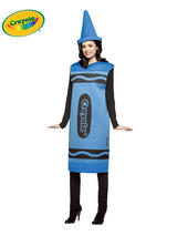 Adult's Blue Crayola Costume (S/M)