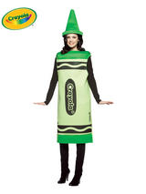 Adult's Green Crayola Costume (S/M)