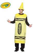 Adult's Yellow Crayola Costume (L/XL)