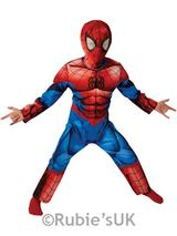 Child Boys Deluxe Ultimate Spider Man Costume