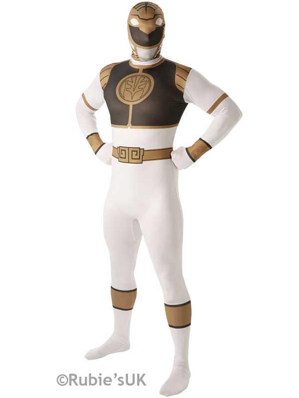 2nd Skin White Power Ranger Costume