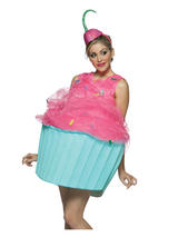 Adult Cupcake Fancy Dress Sweet Food Costume (Standard)