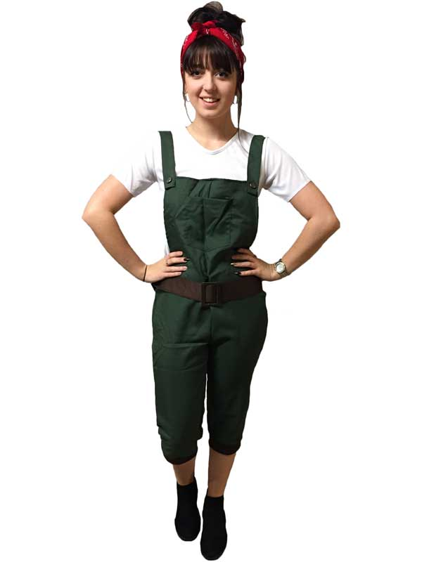 WW2-1940s-Land-Girl-Womens-Army-World-War-  sc 1 st  eBay & WW2 1940s Land Girl Womens Army World War 2 Fancy Dress Costume Size ...