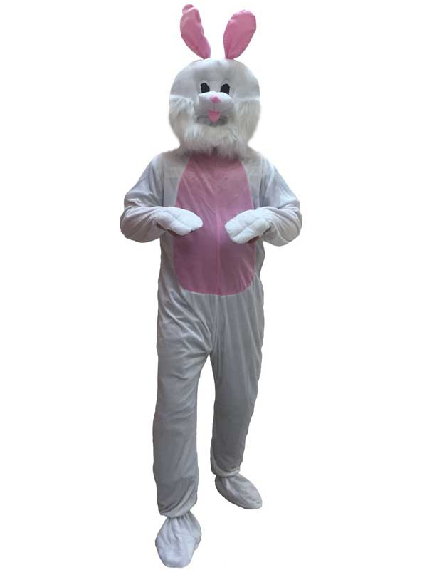 Plush Adult Mascot Bunny Rabbit Animal Fancy Dress Costume Jumpsuit Easter Event