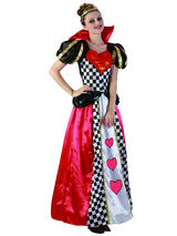 Ladies Adult Fairytale Queen Of Hearts New Fancy Dress Costume Book Week Outfit
