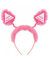 Head Bopper Hen Party Pink With Fur
