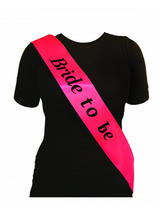 Sash Bride To Be Hot Pink