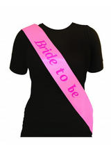 Sash Bride To Be Pink