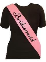 Sash Bridesmaid Pink With Black Text
