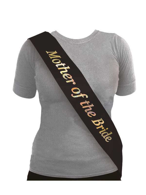 Sash Mother Of The Bride Black