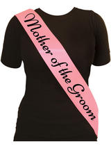 Sash Mother Of The Groom Pink With Black Text