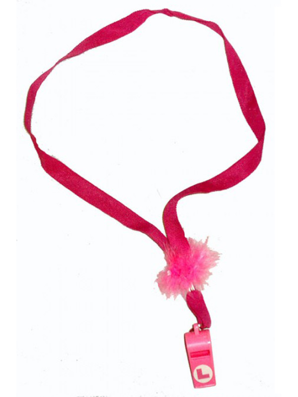 Whistle Plastic Pink With Cord Fur&L Plate