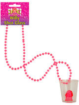 Shot Glass Willy With Bead Necklace