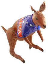 Kangaroo With Aussie Flag - Inflatable
