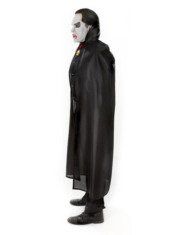 High Collar Dracula Cape Black Thumbnail 3