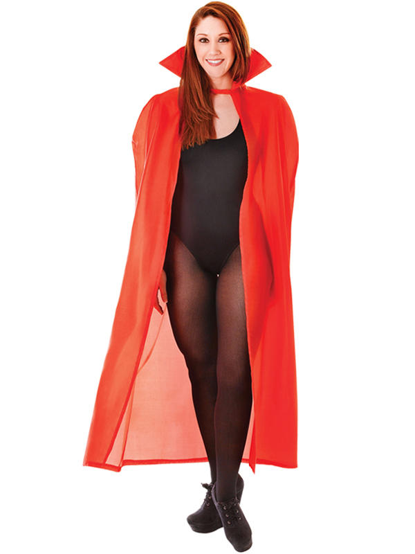 High Collar Dracula Cape Red Thumbnail 1