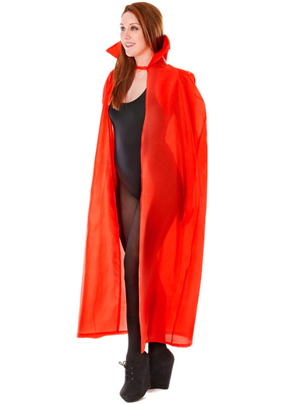 High Collar Dracula Cape Red Thumbnail 2