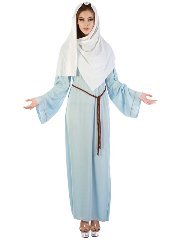 Ladies-Womens-Virgin-Mary-Costume-Nativity-Christmas-Play-  sc 1 st  eBay : christmas womens costumes  - Germanpascual.Com