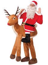 Santa Ride A Reindeer Mascot Costume