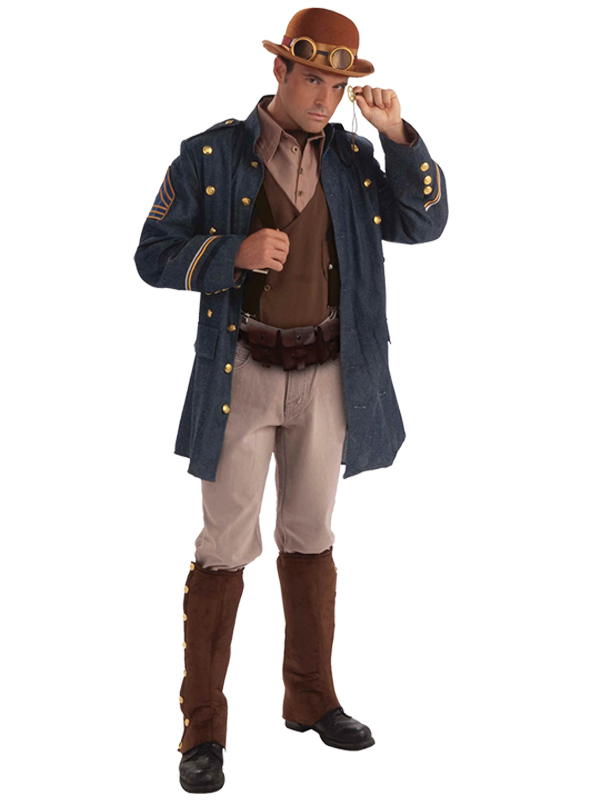 adult steampunk general costume military victorian army mens