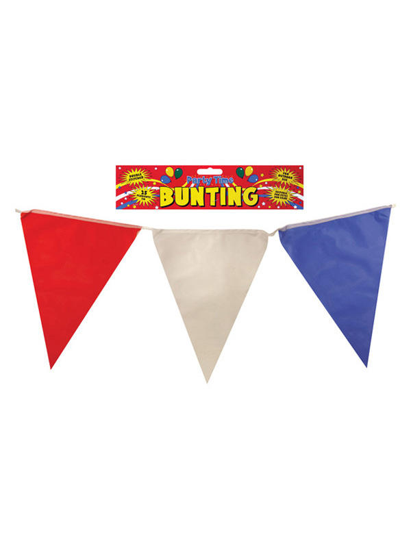 Red White And Blue Bunting With Nylon Flags