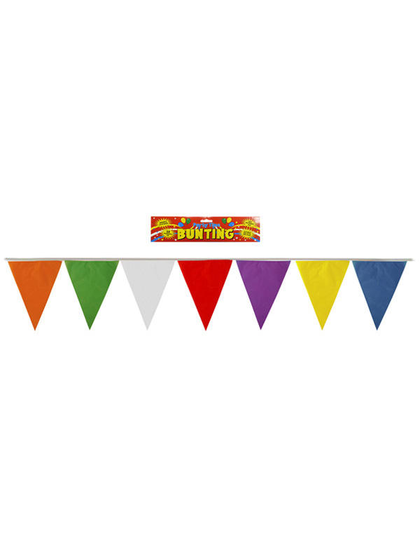 Rainbow Bunting With Nylon Flags