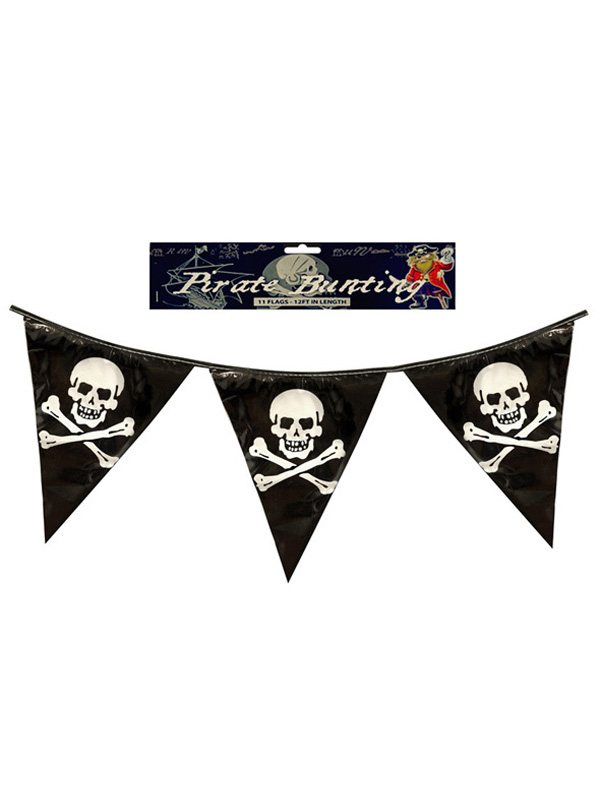 Pirate Bunting With PVC Flags