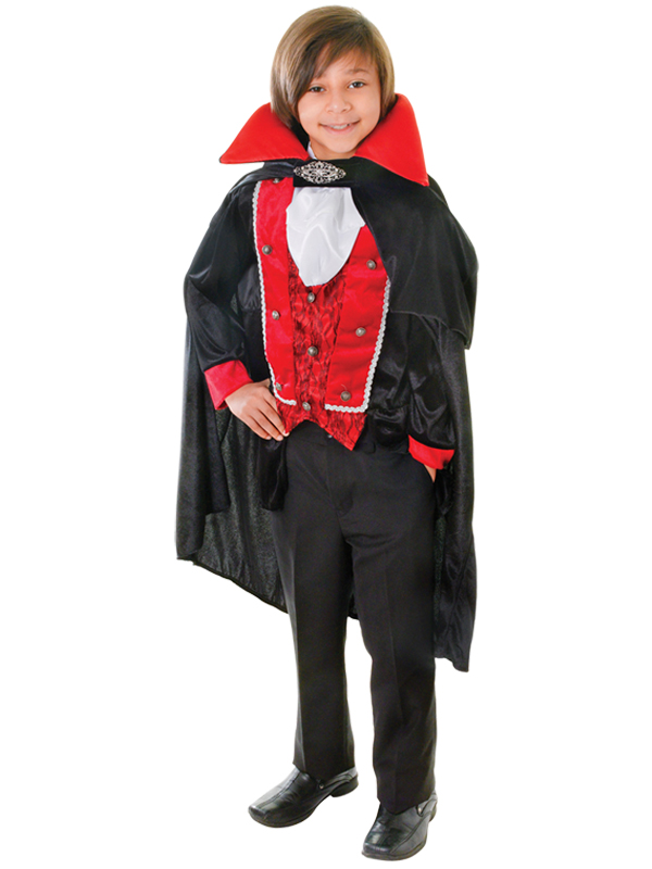 Child-Victorian-Vampire-Top-amp-Cape-Dracula-Boys-Gothic-Halloween-New-Fancy-Dress
