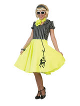 Poodle Dress Yello With Black
