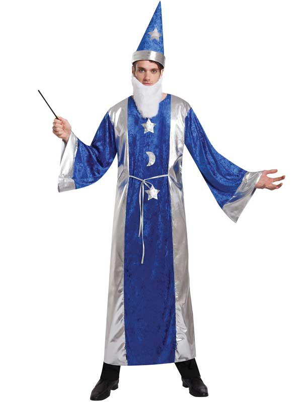 Blue Magican Robe & Hat Costume