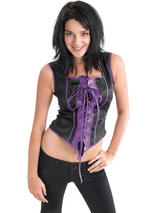 Corset Black Purple Costume
