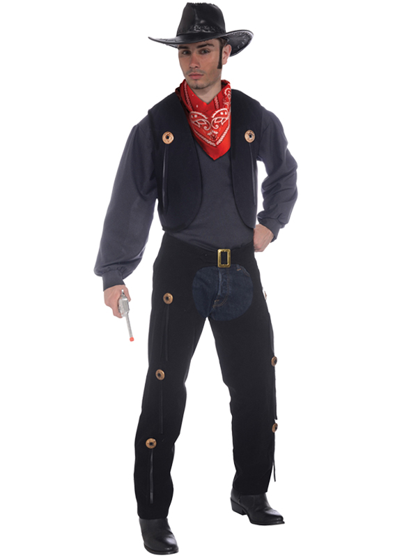 Cowboy Vest + Chaps Set Costume