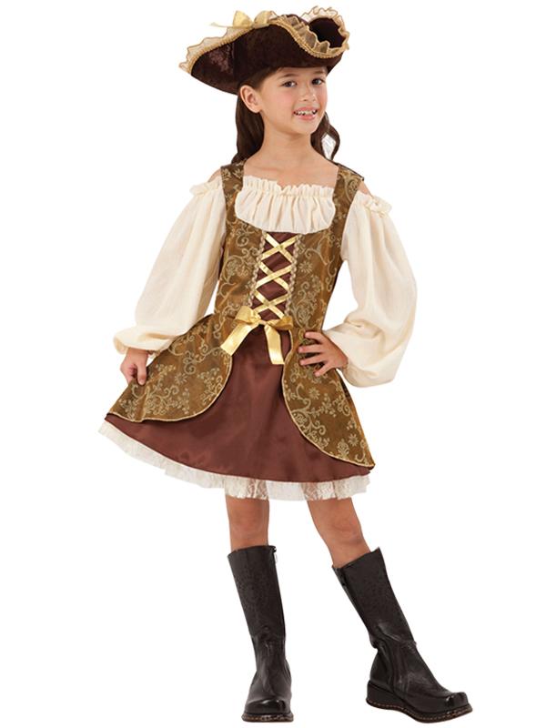 Child Pirate Dress Golden Costume