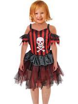 Child Girls Pirate Cutie Dress Costume