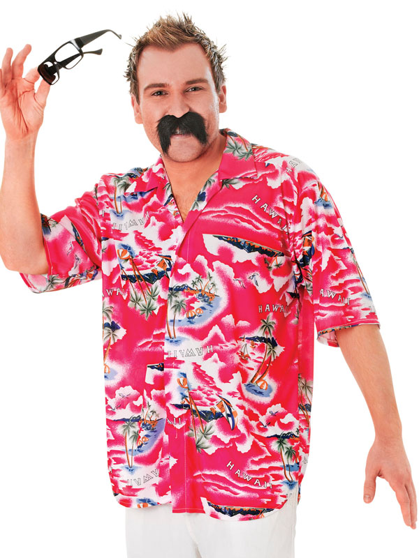 Adult Mens Hawaiian Floral Shirt