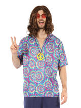 Groovy Psychedellic Top + Necklace Costume