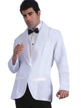 Formal White Jacket Costume