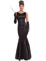 High Society Long Black Dress Costume