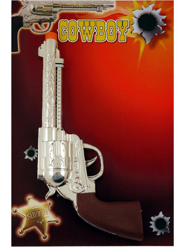 Gun Pistol Western Ranger Silver