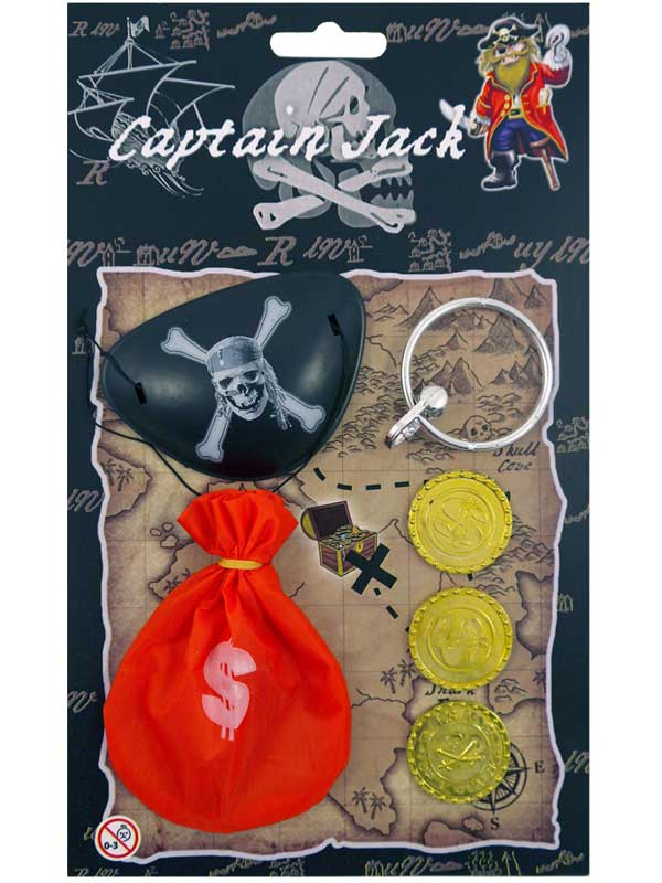 Pirate Money Bag With Coins Set