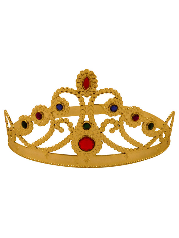Adult Ladies Medieval Queens Adjustable Gold Crown